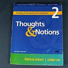 【懶得出門二手書】《Thoughts &Notions 2》MCGRAW-HILL EDUCATION ASIA│七成新
