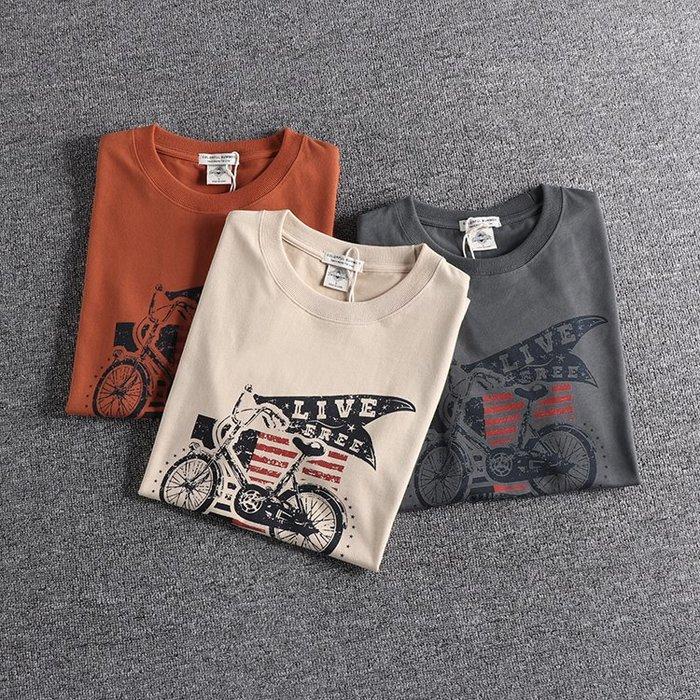 ☆Mr.☆美式風格水洗復古嘻皮圖案短袖T恤(3色)~預購+現貨