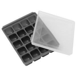 【魔法世界】韓國 Mathos Loreley 矽膠副食品分裝盒S 10g/20格 經典灰
