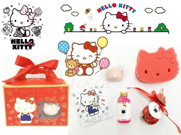*Miki日本小舖*日本三麗鷗 HELLOKITTY凱蒂貓 造型沐浴禮盒/沐浴組 香甜莓果味 日本限定
