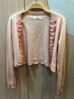 小花別針、百貨專櫃品牌【ma tsu mi】粉色針織小外套
