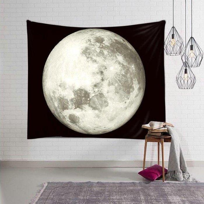 背景布 掛布 墻壁掛飾 背景墻 掛毯 北歐ins月球月亮掛布家居裝飾掛毯墻布畫布拍照背景布壁毯畫桌布