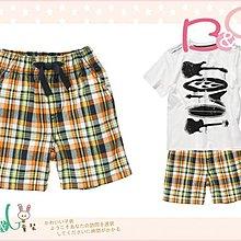 【B& G童裝】正品美國進口GYMBOREE Pull-On Plaid Short 灰橘色格子短褲12-18m,2y