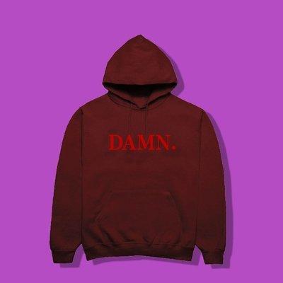 Cover Taiwan 官方直營 Kendrick Lamar DAMN 帽Tee 帽T 酒紅色 黑色 灰色 (預購)