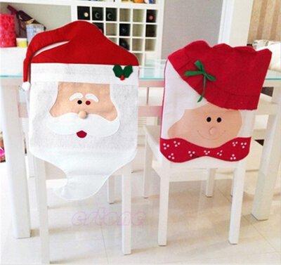 SK聖誕椅套 老公公 老太太 聖誕椅套 聖誕椅子套 聖誕節用品餐桌裝飾