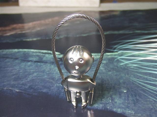 ☆創意小物店☆ 跳繩娃娃 鋼絲鎖鑰匙扣 / 創意可愛金屬鑰匙圈 時尚造型個性飾品