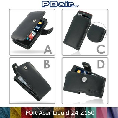 *PHONE寶*PDair Acer Liquid Z4 Z160 側翻 / 下掀式 手拿直式 腰掛橫式皮套 可客製顏色