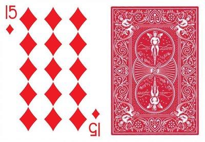 【天天魔法】【A151】方塊15點(原廠Bicycle特殊牌)