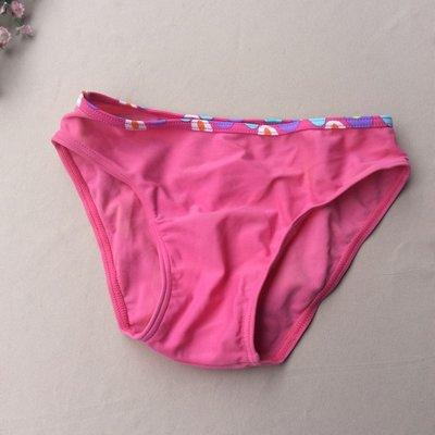 全店運費合併YY08  童款比基尼溫泉泳褲 女童 8歲参考 兒童泳衣 泛黃瑕