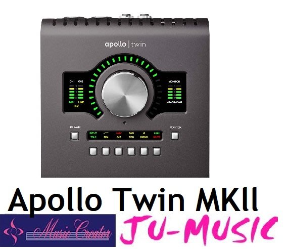 造韻樂器音響- JU-MUSIC - Universal Audio Apollo Twin MKII DUO 公司貨