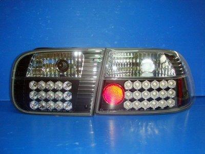 小亞車燈╠ 全新 超炫版 喜美 K6 4D 2D 3D 黑框 LED 尾燈 組