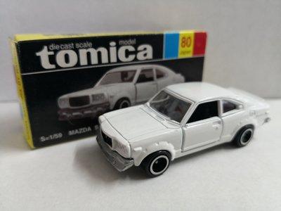 E Tomy Tomica 黑箱 80 -2 WHITE MAZDA SAVANNA GT RACING澳洲特注 ( 日本制)