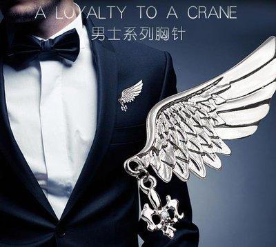 ZIHOPE 銀緣寶復古船錨男士胸針小領針襯衫衣領裝飾扣西裝外套小別針胸花ZI812
