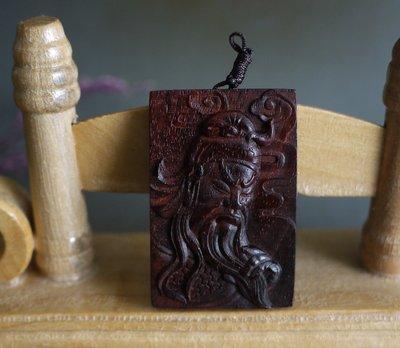 印度小葉紫檀  精雕- 關公 -  高油密老料 雕工精緻  ** T812