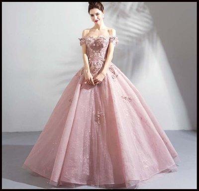 哆啦本鋪 新款天使嫁衣 童話公主 柔柔藕粉色花仙子新娘婚紗禮服結婚敬酒服D655