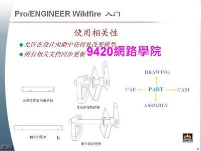 【9420-1695】Pro/Engineer Wildfire 基礎培訓 教學影片 - ( 4 堂課程約 10小時教程 ), 268 元!
