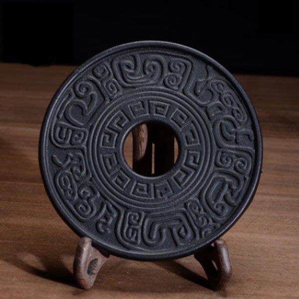 5Cgo【茗道】含稅會員有優惠 39173257120 古文鑄鐵壺墊南部鑄鐵茶壺生鐵壺老鐵壺養生茶壺專用壺墊日本鐵茶壺