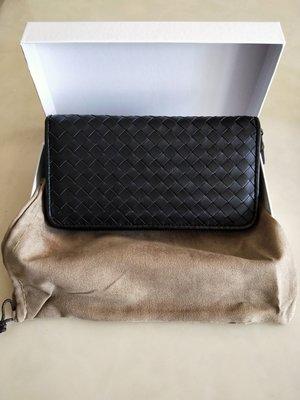 非Bottega Veneta BV 編織長夾 純小羊皮男用女用皮夾 錢包 手挽包 零錢包