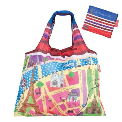 環保袋購物袋--日本 Prairie Dog 設計包巴黎地圖環保購物袋--秘密花園