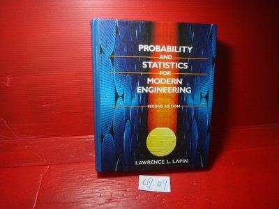 【愛悅二手書坊 09-09】Probability and Statistics for Modern-