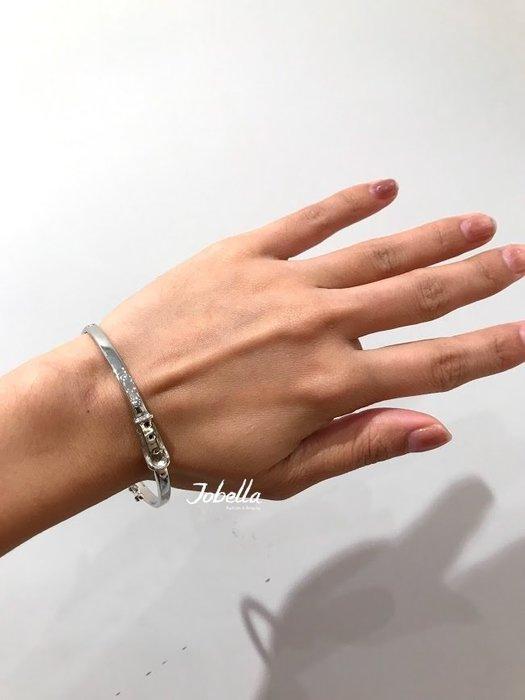 ✽JoBella✽ 925銀 皮帶造型手環 現貨