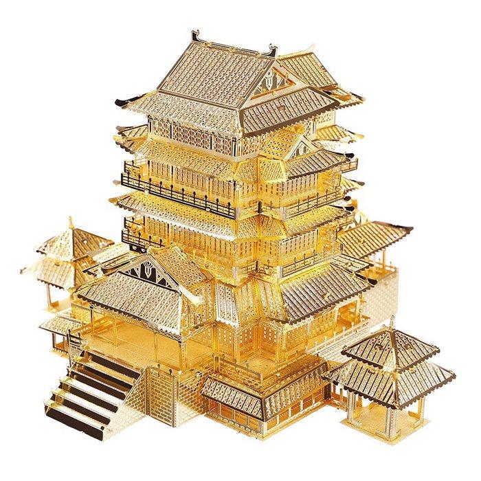 積木城堡 迷你廚房 早教益智拼酷滕王閣3D立體金屬拼圖成年人玩具diy拼裝模型建筑巴黎圣母院