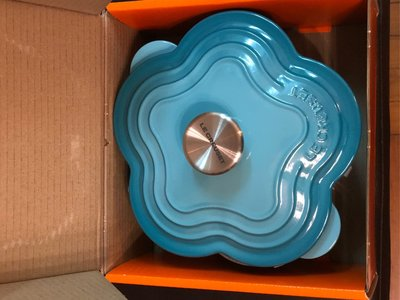 100% New, 20cm Le Creuset Flower Pot Carribean blue