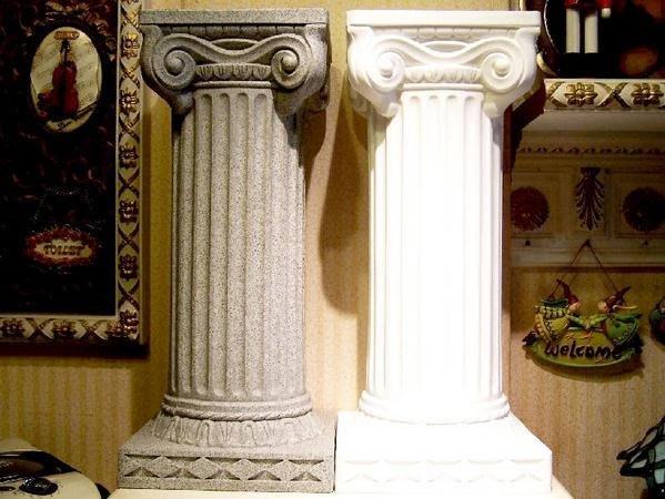 ~羅馬柱~ PE材質櫥窗展示專用. 展覽佈置 婚禮節慶.色澤花岡石色及白色,高度64cm