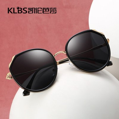 [凱倫芭莎]2003眼鏡鏡框墨鏡太陽眼鏡鏡片新款時尚女士太陽鏡 潮流偏光鏡 高檔金屬太陽眼鏡批發偏光墨鏡女49