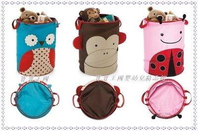 【寶寶王國】 美國品牌 ㊣SKIP HOP可愛動物園玩具收納籃 瓢蟲