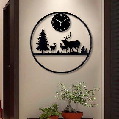 掛鐘 鬧鐘 墻壁鐘 裝飾鐘錶新中式掛鐘客廳家用裝飾時鐘臥室個性時尚藝術中國風創意簡約鐘表