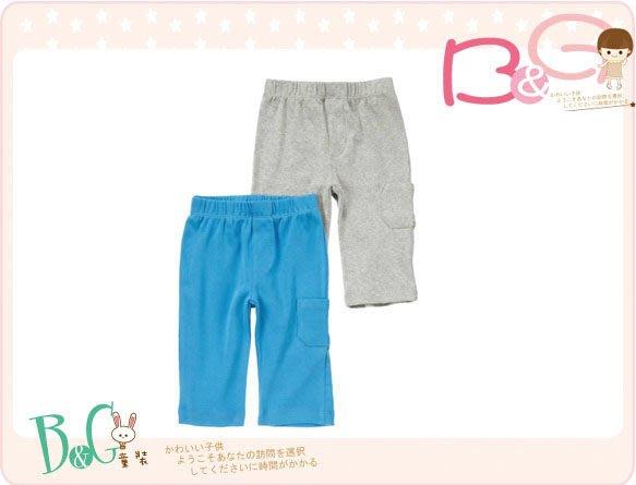 【B& G童裝】正品美國進口Crazy8 Knit Pants 2-Pack 藍色,灰色2件一組棉質長褲6-12mos