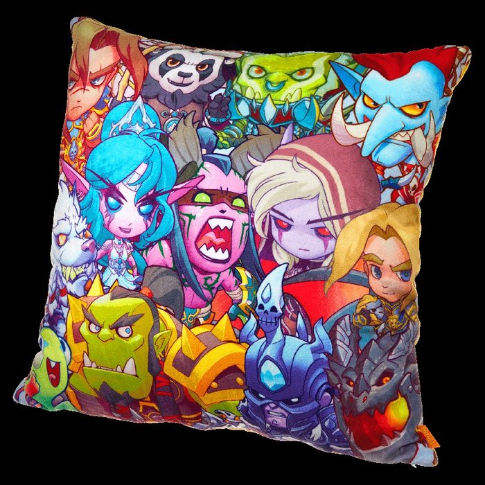 【丹】暴雪商城_World of Warcraft Cute But Deadly 魔獸世界 Q版 角色 靠枕 抱枕