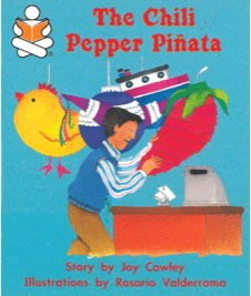Chili Pepper Pinata 馬可的辣椒皮那塔--繪本童書  (一元起標,無底價)