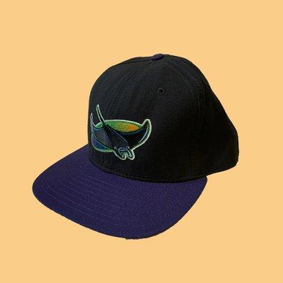 JCI:Vintage New Era MLB 帕坦灣 魔鬼魚隊 Snapback 棒球帽 90s古著老帽 / 光芒隊