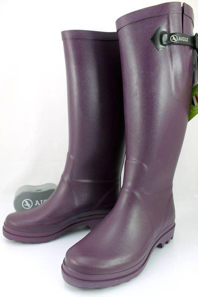 INDiCE ↗ AIGLE Aiglentine 斜口彈性經典手工雨靴 法國製 時尚紫