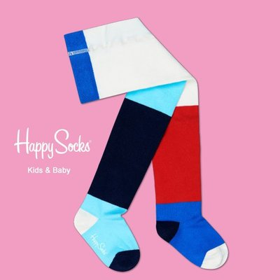 Freaky House-瑞典品牌Happy Socks Block Tight 四色區塊造型設計童襪嬰兒長統襪