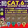 [ 光訊 五彩供應 GIGA ] 大同網路線 Cat.6 ...