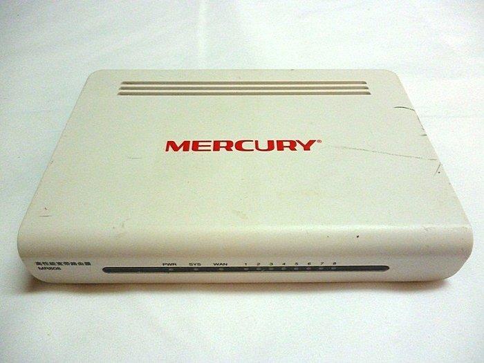 ☆寶藏點☆水星 MERCURY MR808 高性能寬帶路由器 分享器 LAN 8port 功能正常 jj129