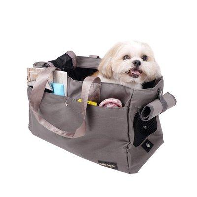 『IBIYAYA』 FC1428-G簡約手做寵物帆布包----鐵灰