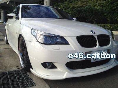 【BMW E46精品館】 BMW  E60 MTECH 前保桿專用 CARBON 前下巴 (另有素材 )