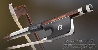 皇家樂器~全新美國Coda Bow Diamond NX Carbon Fiber 4/4 大提琴碳纖弓