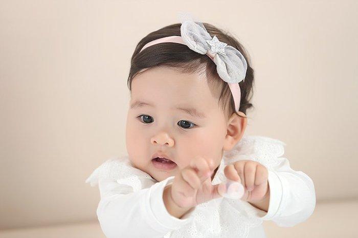 ☆草莓花園☆B51兒童髮飾 星星蝴蝶結髮帶  百天照頭飾 嬰兒髮帶 髮冠 皇冠 造型周歲照 藝術照