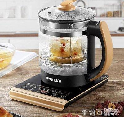 韓國現代養生壺全自動加厚玻璃電煮茶壺多功能家用燒水壺煮茶器小igo 220v