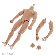 1:6 Male Skeleton Muscular Action Figure Body Doll Toy For~K