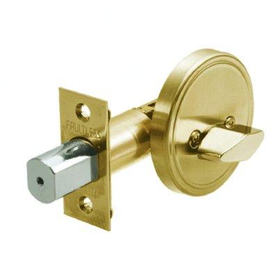 加安牌 單向輔助鎖 60mm單一旋轉鈕 D274 單向鎖組 金色 青銅 粉體塗裝 FAULTLESS 房間鎖 房門