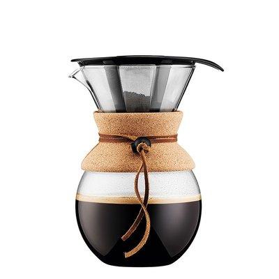咖啡壺bodum波頓滴濾式咖啡壺玻璃咖啡手沖壺1000ml POUR OVER