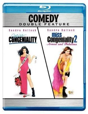 BD 全新美版【麻辣女王 1 + 2】【Miss Congeniality】Blu-ray 珊卓布拉克