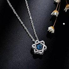 藍鑽六芒星鎖骨短頸鏈(型號:JP-NL-0012) 全店飾物購滿100元 *包【順豐】運費*
