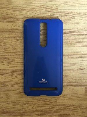 《99%新》ASUS Zenfone 2 5.5吋 保護殼 保護套 矽膠 軟殼 防摔 全包 手機殼 素色 藍色